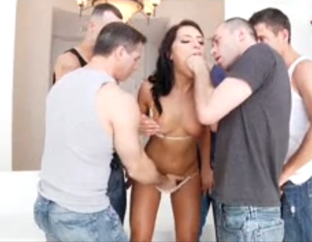 Adriana Chechik Gets Roughed Up Before A Triple Anal Penetration Scene